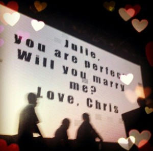 Chris asks Julie to marry him in Toronto