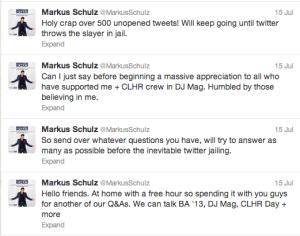 Markus Schulz July 15 Twitter Q&A